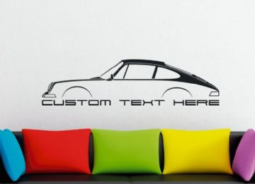 Large Custom car silhouette wall sticker - for Porsche Classic 911 / 912 (1964-1973)